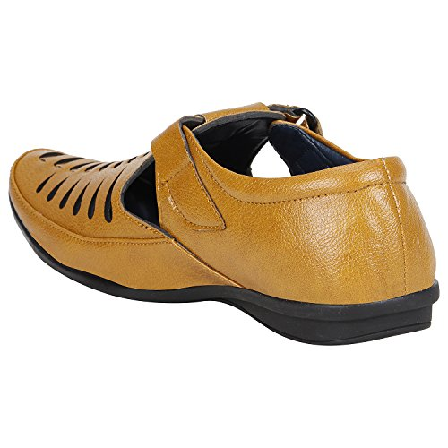 dca51564f6fe Men s Loafer  Buy Emosis Men s Stylish Tan Brown Black Colour Outdoor Formal  Casual Ethnic Loafer Slip-On Sandal Shoe at best price in India