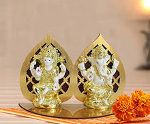 Load image into Gallery viewer, Golden Basket Combo Pack Gold Plated Lakshmi Ganesha Idol for Diwali (Diwali Gift for Friend, Family,Corporate Employees )