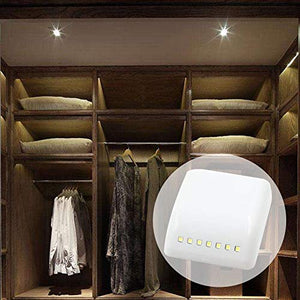 MADHULI Universal Furniture, Wardrobe LED Automatic Sensor Light System with Battery (White)