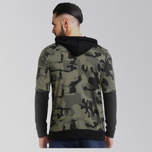 Load image into Gallery viewer, Lewel Cotton Camouflage Full Sleeves Hoodie