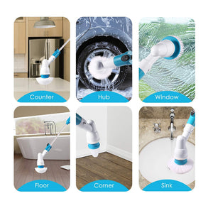 Mop - 360º Cordless Multipurpose Power Surface Cleaner With 3 Cleaning Brush
