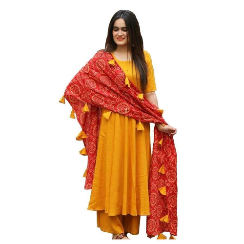 Elegant Calf Length Rayon Solid Palazzo Set With 3/4th Sleeves