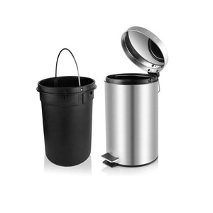 7 Ltr Stainless Steel Paddle Dustbin with Bucket