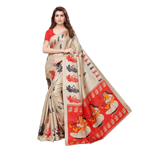 Stunning Art Silk Printed Saree