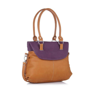 Tan Self Pattern Handbag