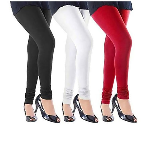 Stylish Cotton Leggings Set Of 3
