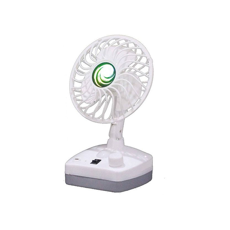 Portable Table Fan and LED Light