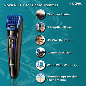 Nova NHT-1071 Titanium Coated USB Trimmer for Men