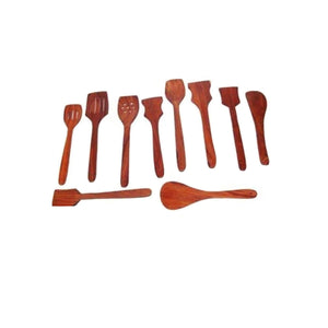 Handmade Wooden Non-stick Serving And Cooking Spoon Kitchen Tools