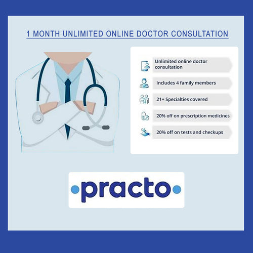 Online Doctor Consultation (Practo 1 Month Unlimited Plan)
