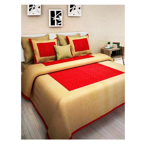 Beautiful Multicoloured Cotton Bedsheet With 2 Pillow Covers