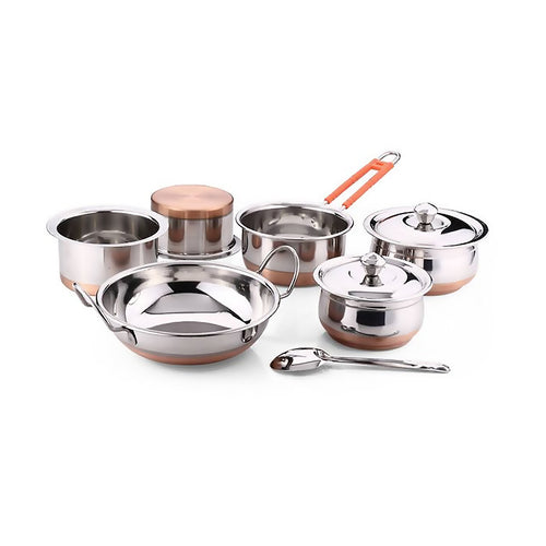 Copper Bottom Cookware Set- 9pcs