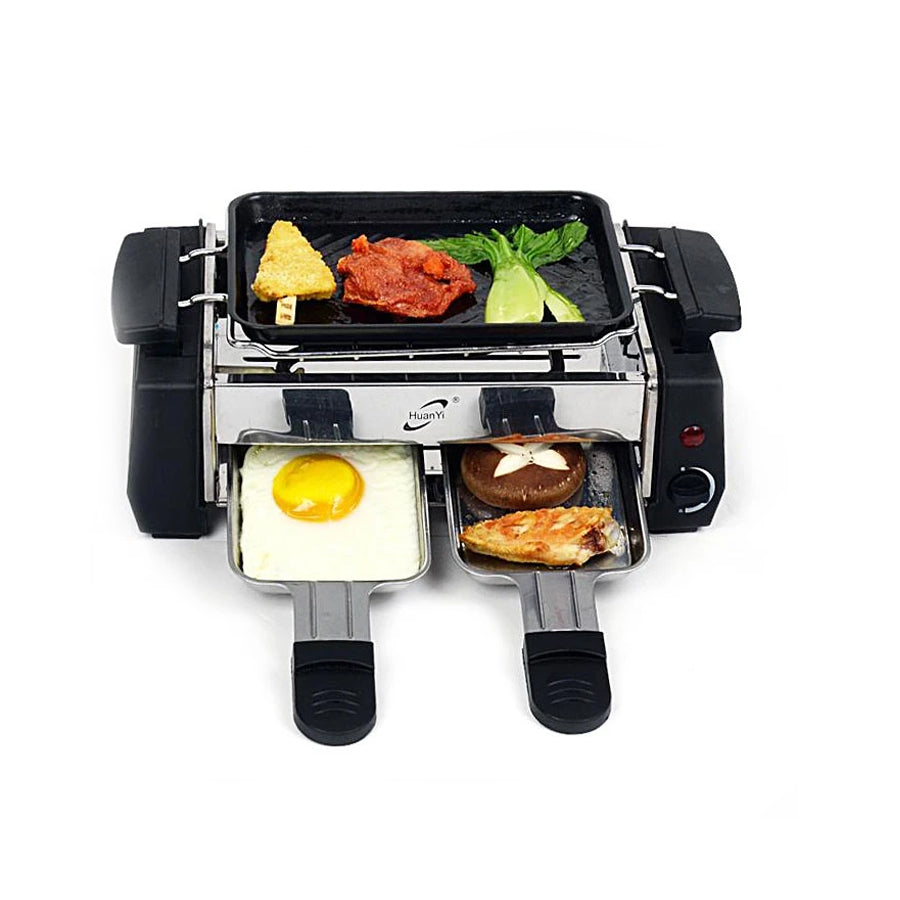 Electric Barbeque Grill Toaster Frying Pan