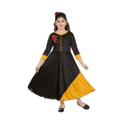 Party Wear Designer Black Gown For Girls