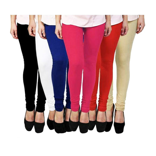 Stylish Cotton Leggings Pack of 6
