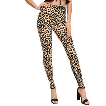 Load image into Gallery viewer, SHEIN Leggings Women Fitness Clothing Multicolor Leopard Print Skinny Leggings Women Fashion Clothes Casual Leggings
