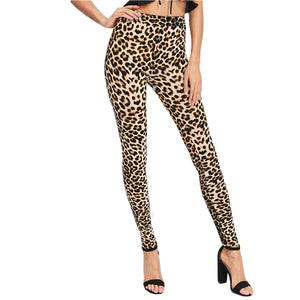 SHEIN Leggings Women Fitness Clothing Multicolor Leopard Print Skinny Leggings Women Fashion Clothes Casual Leggings