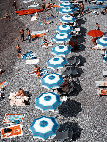 Atrani Beach Umbrellas Print - The Amalfi Coast - Robert Voltaire