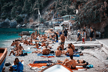 Da Gioia Capri Beach and Restaurant Print - The Amalfi Coast - Robert Voltaire
