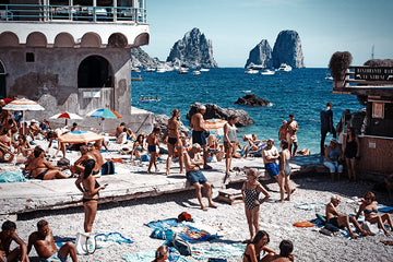 Faraglioni Beach - Capri Print - The Amalfi Coast - Robert Voltaire