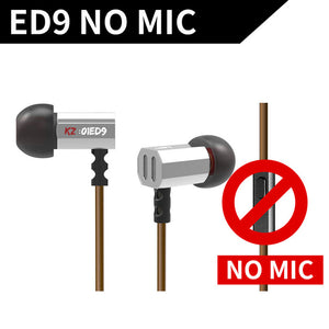KZ ED9 Super Bowl Tuning Nozzles Earphone In-Ear Monitors HiFi Earbuds With Microphone - BestCheapEarbudsShop
