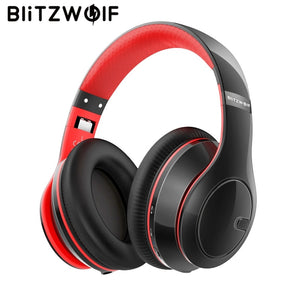 BlitzWolf Bluetooth Adjustable Foldable Stereo Over Ear Headphones with Mic - BestCheapEarbudsShop
