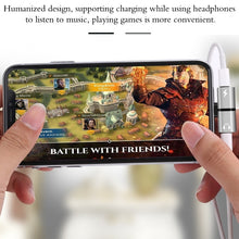 Load image into Gallery viewer, 2 In 1 Dual Ports Headphone Adapter iPhone Case for iPhone Accessories - BestCheapEarbudsShop