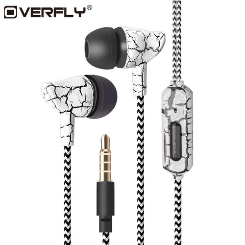 3.5mm Super Bass Crack Earbuds with Microphone - BestCheapEarbudsShop