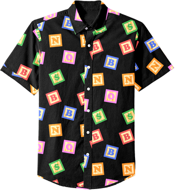 Blocks Button Up (Black)