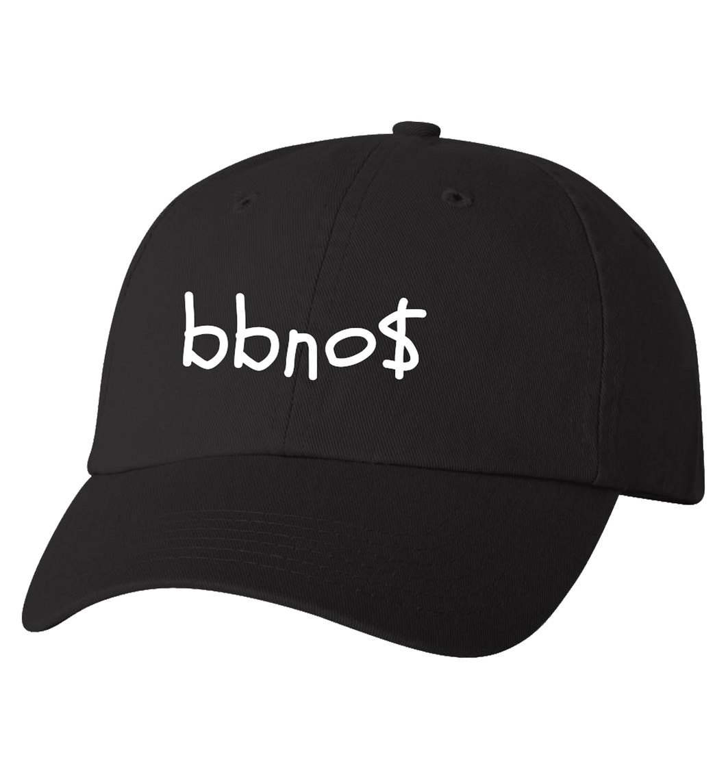Dad Hat with Embroidered Font (Black)