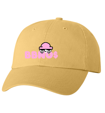 Embroidered Peeking Dad Hat (Butter)
