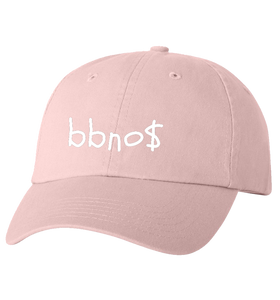 Dad Hat with Embroidered Font (Pink)
