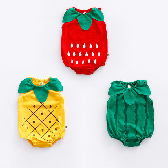 Fruity Designed Baby Rompers