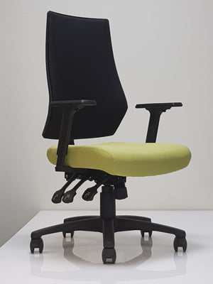 Discover Task Chair (in Black Fabric and Green Seat)