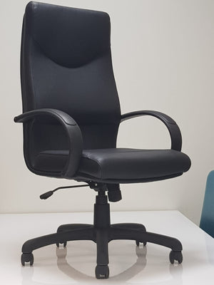 High Back Reclining Desk Chair (in Regenerated Vegan Leather)