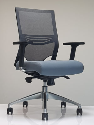 grey seat mesh back chair