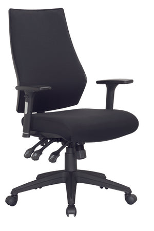Black chair with arm rest