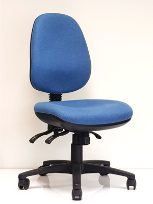 Blue ergonomic chair