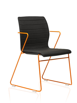 Chair with orange frame