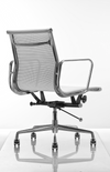 Memory Mesh Medium Chair (in Aluminium frame and Black mesh)