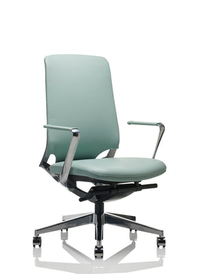 Corporate chair in duck egg blue colour