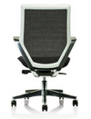 White Frame Power Chair (in Mesh back and black PU seat)