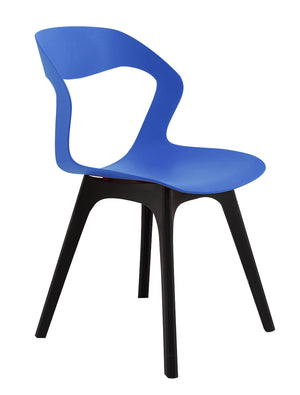 Blue lunchroom chair
