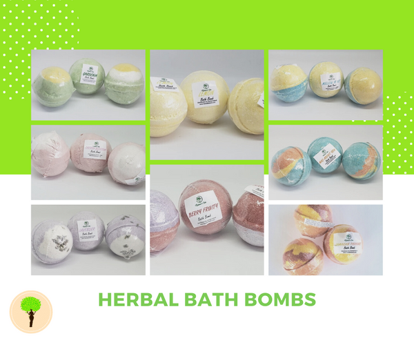 bath bombs with multiple scents
