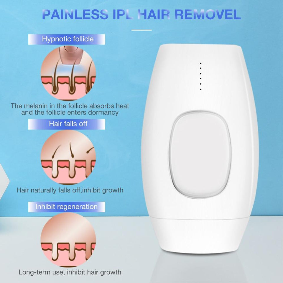 Hair Remover IPL Epilator Laser Painless Whole Body Facial Hair Removal Machine 600000 Flash Permanent