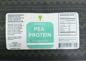 Organic Pea Protein (Workout) 1 Pound