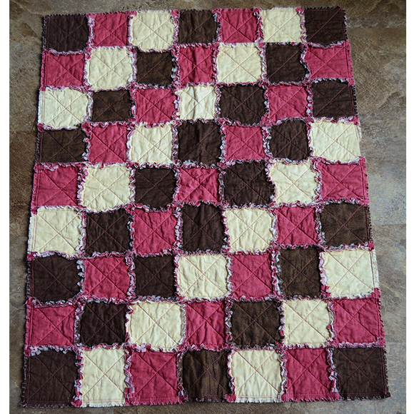 Quilt - Pink, Cream & Brown