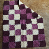 Small Quilt - Purple & Cream Diamond