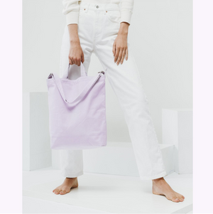 Tote bag en canvas lilas