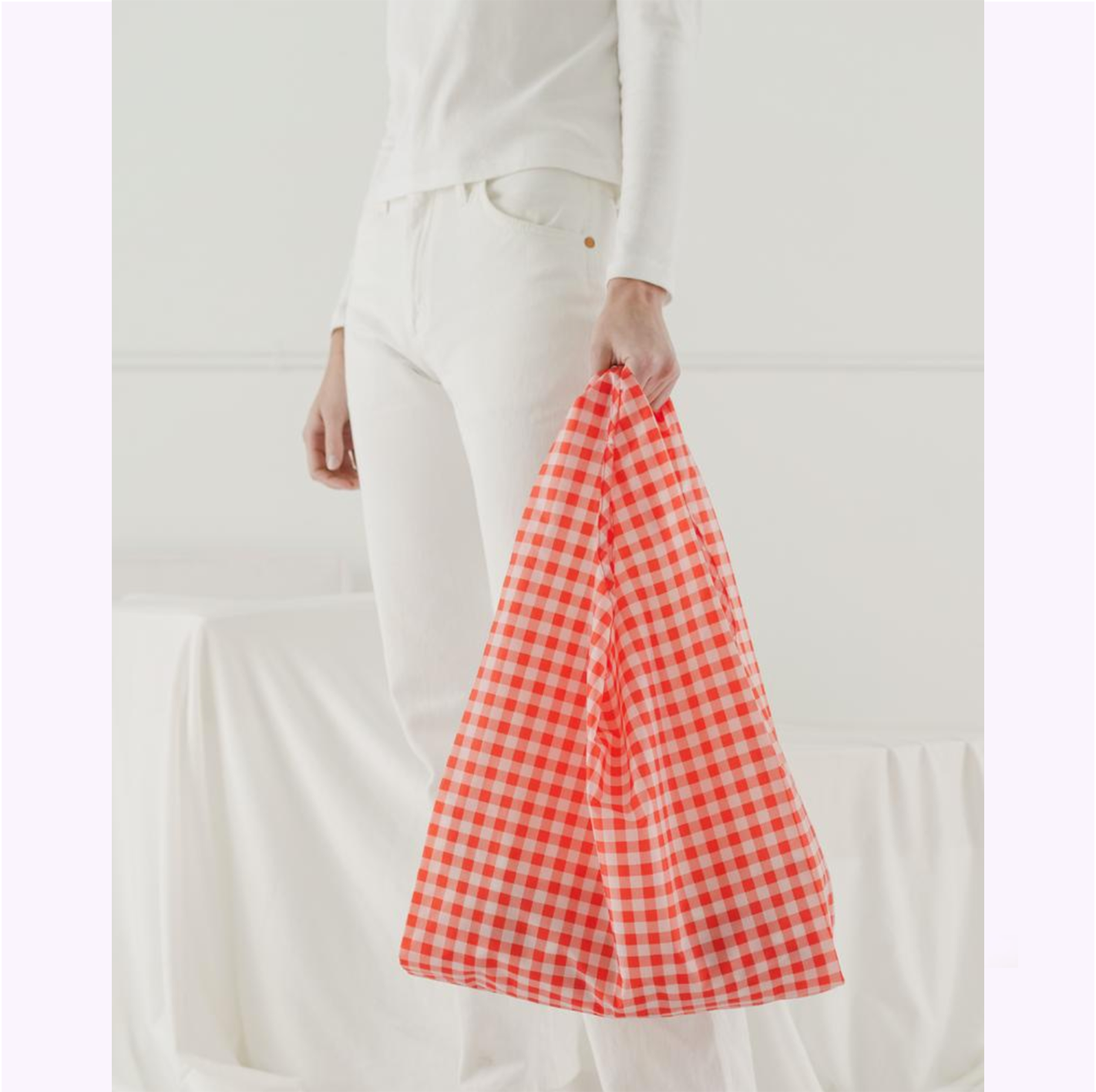 "Sac réutilisable ""Gingham rouge"""